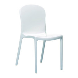 Compamia ISP052-GWHI Crystal Polycarbonate Modern Dining Chair - Glossy White - - The organic appeal of the tree-branching design on the seat back of the Compamia ISP052-GWHI Crystal Polycarbonate Modern Dining Chair - Glossy White - Set of 2 isn't the only good news for your home or restaurant. This chair is also formed from an unbreakable polycarbonate with a high-gloss white finish that is resistant to moisture and UV-exposure. What's that? Is it easy to clean? Is a damp rag easy enough for you? And when you're done with that, these chairs are even stackable so you can get them out of your way. Yes, they really ARE just that great.