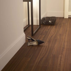 Wenge Bourbon, Cushion Step vinyl sheet flooring by Armstrong - This is a vinyl sheet floor from Armstrong. The pattern is called Wenge Burgundy.