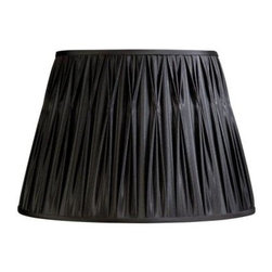 Laura Ashley - Laura Ashley Classic 13.5 in. Black Pinched Pleat Shade SFP013 - Shop for Lighting & Fans at The Home Depot. Founded in 1953, Laura Ashley has become a quintessential English brand, synonymous with quality, creativity, and individuality. Laura Ashley products are recognized worldwide for their colorful patterns and iconic floral prints. This black Laura Ashley lamp shade is made of faux silk, and will be a vibrant addition to any room.