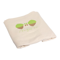 Mezoome - Mezoome Acorn Organic Cotton Fitted Crib Sheet - Mezoome organic fitted sheet is made from 100% organic cotton and eco-friendly dyes. The fitted sheet fits standard crib mattresses as well as toddler transition beds allowing it to last as your little one grows. The design features the Mezoome Acorn graphic. Acorn is a fun little acorn that pops up everywhere!