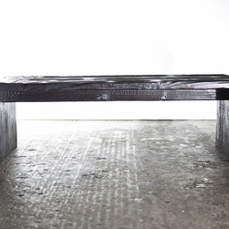 The Sugi Table - Coffee Table made from Reclaimed building materials finished in traditional japanese Shou Sugi Ban Technique
