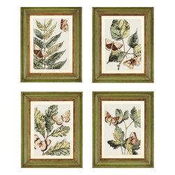Paragon - Butterflies PK/4 - Framed Art - 1187 - Each product is custom made upon order so there might be small variations from the picture displayed. No two pieces are exactly alike.