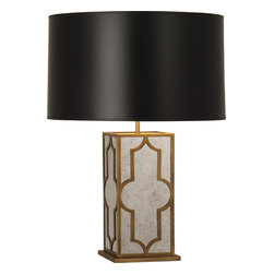Robert Abbey - Addison Table Lamp, Weathered Brass/Black - -1-150W Max.