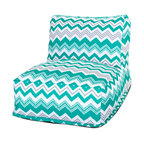 Majestic Home - Outdoor Pacific Zazzle Bean Bag Chair Lounger - Add style and functionality to your living room, family room or outdoor patio with the Majestic Home Goods Bean Bag Chair Lounger. This Beanbag Chair has the design of modern furniture, while still giving the comfort of a classic bean bag. Woven from outdoor treated polyester, these loungers have up to 1000 hours of U.V. protection and are able to withstand all of natures elements. The beanbag inserts are eco-friendly by using up to 50% recycled polystyrene beads, and the removable zippered slipcovers are conveniently machine-washable.