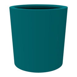 Decorpro - Medium Vienna Planter, Teal - The Vienna planter is a more traditionally shaped pot. The round shape allows this planter to fit in with a wide variety of settings both indoors and outdoors.