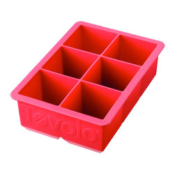 "Tovolo King Cube Ice Tray - Red - Pitcher perfect! The Tovolo King Cube perfect large ice cube trays are fun! _�� the larger surface means that the ice melts slower  your beverage stays colder  and your drink tastes the way it should.  Makes 2"" Perfectly Cube Ice Cubes.  Product Features                        Creates great looking square ice cubes            Food grade silicone eases removal of cubes            Jumbo size encourages delicious additions - berries  herbs or lemon slices            Makes 2"" cubes            Ice cubes melt slower than traditional ice tray cubes            Dishwasher safe."