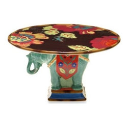Tracy Porter - Tracy Porter Poetic Wanderlust Rose Boheme Eden Ranch Cake Stand - The soulful Eden Ranch Dinnerware graces your home with nature-inspired and floral pieces that bring a refreshing and elegant update to your tabletop.
