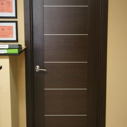 Maximum 201 Modern Interior Door Wenge Finish - * Price listed includes door slab,adjusted frame and moldings ** ( hardware seperate )