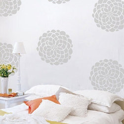 Bloom Wall Pattern Decal - These Bloom decals add flair to your space without the commitment of wallpaper. Set a few behind your bed in lieu of a headboard and enjoy the transformation.