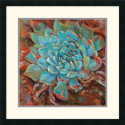 Amanti Art - Blue Agave II Framed Print by Jillian David Design - With nature-inspired imagery in rich, colorful hues, this fine art print will infuse your home with an earthy beauty.