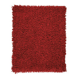 Anji Mountain - Anji Mountain Silky Shag Crimson Silky Shag Rug - Crimson Silky Shag Rug belongs to Silky Shag Collection by Anji Mountain Softer and silkier than traditional shag rugs made from wool or synthetic fibers. Uniquely luxuriant look and feel due to custom specified blended yarn (50% rayon made from bamboo, 50% cotton). Rug (1)