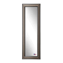 Rayne Mirrors - American Made Antique Silver 21 x 60 Slender Body Mirror - Tall mirrors work wonders to seemingly expand space while defining a look that coordinates well with any style of decor. This antique smoked silver frame features raised levels to it's profile adding depth to its shimmering mirror. Each Rayne mirror is hand crafted and made to order with American products.  All hardware included for vertical or horizontal hanging, or perfect to lean against a wall.