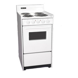 "Brown - 20"" Electric Range - Features:"