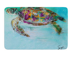 "KESS InHouse - Josh Serafin ""Mommy"" Turtle Memory Foam Bath Mat (24"" x 36"") - These super absorbent bath mats will add comfort and style to your bathroom. These memory foam mats will feel like you are in a spa every time you step out of the shower. Available in two sizes, 17"" x 24"" and 24"" x 36"", with a .5"" thickness and non skid backing, these will fit every style of bathroom. Add comfort like never before in front of your vanity, sink, bathtub, shower or even laundry room. Machine wash cold, gentle cycle, tumble dry low or lay flat to dry. Printed on single side."