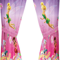 Franco Manufacturing - Disney Tinkerbell Drapes Be Yourself Window Curtains - FEATURES: