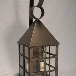 Northeast Lantern - York Dark Antique Brass Two-Light Outdoor Wall Light with Clear Glass - -Clear Glass  -Northeast Lantern offers a distinctive collection of early American and Colonial reproduction lighting that is hand crafted in New Hampshire for a lifetime of beauty.  -The fixtures are made of solid brass and copper. They  are cut, fitted, soldered, finished, and wired by hand in New Hampshire. Northeast Lantern - 7131-DAB-LT2-CLR