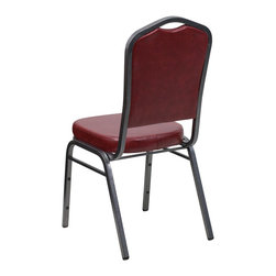 Flash Furniture - Flash Furniture Banquet Stack Chairs Banquet Stack Chairs - This is one tough chair that will withstand the rigors of time. With a frame that will hold in excess of 500 lbs., the HERCULES Series Banquet Chair is one of the strongest banquet chairs on the market. You can make use of banquet chairs for many kinds of occasions. This banquet chair can be used in Church, Banquet Halls, Wedding Ceremonies, Training Rooms, Conference Meetings, Hotels, Conventions, Schools and any other gathering for practical seating arrangements. The banquet chair is also great for home usage from small to large gatherings. For any environment that you use a banquet chair it will put your guests at a greater comfort level with the padded seat and back. Another advantage is the stacking capability that allows you to move the chairs out of the way when not in use. With offerings of comfort and durability, you can be assured that you can enjoy this elegant stacking banquet chair for years to come. [FD-C01-SILVERVEIN-BURG-VY-GG]
