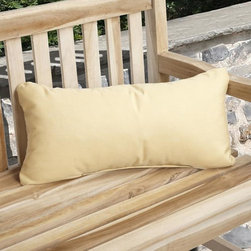 None - Charisma Outdoor Yellow Pillow Made with Sunbrella - This decorative pillow adds exceptional comfort and dramatic style to your patio decor. This outdoor pillow is constructed of stain-,fade- and mildew-resistant fabric.
