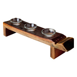 Alpine Wine Design - Small Inverted Wine Stave Candleholder - Other tea light holders just can't hold a candle to this one. Hand-crafted from an actual wine barrel stave, this piece has an incredible, rich burgundy patina that pays homage to the wine it once held.