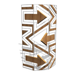 """EllingWoods Design - Modern 3 Panel Screen Room Divider - """"Yield"""" - EllingWoods Room Dividers add a high impact free standing art and design element that diffuses light and creates a visual expression for any room."""