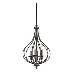 Kichler Lighting - Kichler Lighting 43332OZ Kensington Lodge/Country/Rustic Foyer Chandelier - Kichler Lighting 43332OZ Kensington Lodge/Country/Rustic Foyer Chandelier In Olde Bronze