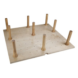 "Hardware Resources - Peg Board with 16 Pegs 39-1/4""W x 21-1/4""L x 6-5/8""H. Solid - Peg Board with 16 Pegs 39 1/4""W x 21 1/4""L x 6 5/8""H. Solid 5/8"" thick maple plywood UV finished with peg system."