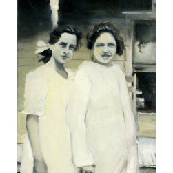 Two Sisters (Original) by Rebecca Plante - I love that even though the photograph that served as the inspiration for this piece was taken ages ago, it speaks to the same sibling dynamics that influence my life today.