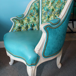 Hancock and Moore Sale - Hancock and Moore Lincoln Tufted Chair in Tiburon Aegean