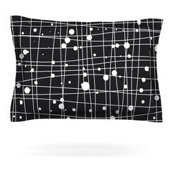 "Kess InHouse - Budi Kwan ""Woven Web Mono"" Pillow Sham (Cotton, 30"" x 20"") - Pairing your already chic duvet cover with playful pillow shams is the perfect way to tie your bedroom together. There are endless possibilities to feed your artistic palette with these imaginative pillow shams. It will looks so elegant you won't want ruin the masterpiece you have created when you go to bed. Not only are these pillow shams nice to look at they are also made from a high quality cotton blend. They are so soft that they will elevate your sleep up to level that is beyond Cloud 9. We always print our goods with the highest quality printing process in order to maintain the integrity of the art that you are adeptly displaying. This means that you won't have to worry about your art fading or your sham loosing it's freshness."