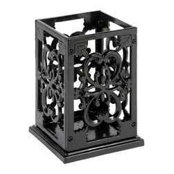 Anchor Hocking - Cast Iron Black Utensil Holder - 27714BMR Anchor Hocking Cast Iron Black Utensil Holder. Kitchen Series by Anchor Home Collection feature hand-crafted products with a rustic, old-world, cozy charm. Durable Cast-iron in Black enamel