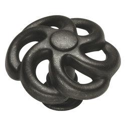 Hickory Hardware - Charleston Blacksmith Knob (Set of 10) (Black Iron) - Finish: Black Iron