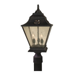 Craftmade - Craftmade Z1415 Chaparral 3 Light Large Post Light - Craftamde 3 Light Large Post Light from the Chaparral CollectionFeatures: