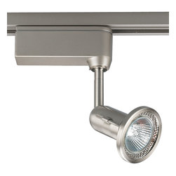 Progress Lighting - Progress Lighting P6104-09 Miniature Halogen One Light Track Head Brushed Nickel - 12V low voltage MR16 fixed gimbal track head.