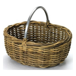 Go Home Ltd - Go Home Ltd Grocers Basket with Aluminum Handle X-64361 - Go Home Ltd Grocers Basket with Aluminum Handle X-64361