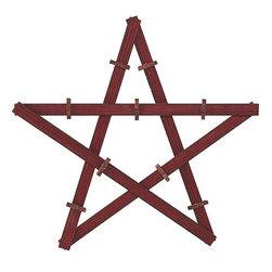Home Decorators Collection - Wooden Star with Clothespins Card Holder - Our Wooden Star with Clothespins Card Holder lets you show off all your cards and photos in a neat wall display. Make your memories part of your holiday decor year after year. Made of wood. Available in brick red.