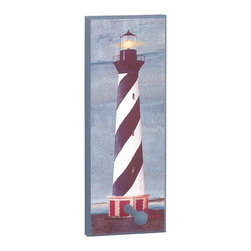 "Renovators Supply - Coat Racks Blue Wood Lighthouse Coat/Peg Rack - Wood Lighthouse peg rack includes one hook. 5 1/2""w x 14 1/2""h x 3""d."