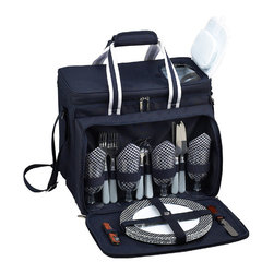 Picnic at Ascot - Bold Picnic Cooler for Four - Features: