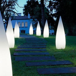 "B.Lux - B.Lux Kanpazar 80 outdoor floor lamp - Products description: The B.Lux line-up of fixtures are produced by young, creative, distinguished professionals who share common goals of providing coherent and innovative products. The Kanpazar 80 outdoor floor lamp by B.Lux is designed by Jon Santacoloma and made in Spain. The Kanpazar 80 outdoor floor lamps are UL listed and have a smooth white frosted finish and made from vandal-proof UV resistant polyethylene.   Products description: The B.Lux line-up of fixtures are produced by young, creative, distinguished professionals who share common goals of providing coherent and innovative products. The Kanpazar 80 outdoor floor lamp by B.Lux is designed by Jon Santacoloma and made in Spain. The Kanpazar 80 outdoor floor lamps are UL listed and have a smooth white frosted finish and made from vandal-proof UV resistant polyethylene.                                     Manufacturer:                                      B.Lux                                                     Designer:                                      Jon Santacoloma                                                     Made  in:                                     Spain                                                     Dimensions:                                      Fixed -Version A: Height: 31.4"" (80cm) X Width: 11.8"" (30cm)             Portable - Version B: Height: 31.4"" (80cm) X Width: 11.8"" (30cm)             Portable with Base - Version C: Height: 38.5"" (98cm) X Width: 11.8"" (30cm)                                                     Light bulb:                                      2 X 36W 2G11 Fluorescent                                                     Material                                      Metal, polyethylene, concrete"