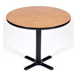 Correll Inc - Round Cafe Breakroom Top in Medium Oak (24 in - Finish: 24 in./Med OakColumn and base not included. Pictured in Medium Oak. 24 in.. 30 in.. 36 in.. 42 in.. 48 in.. 60 in.