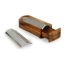 Enrico - Enrico Cheese Grater & Shredder, Acacia Wood - -Comes with 2 arched stainless steel blades, one for soft cheese, one for hard cheese.