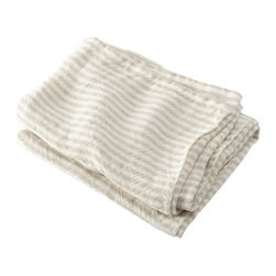 Brahms Mount - USA made Brahms Mount Linen Hand Towel, Pearl/Natural, Hand - Elevate the everyday. Treat yourself to the incomparably smooth hand, durability and super-absorbency of our pure linen bath and kitchen towels. Made in Maine since 1983