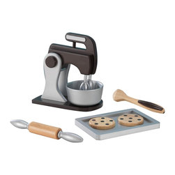 KidKraft - Kidkraft Espresso Baking Set - Our Espresso Baking Set makes a perfect gift for any of the young chefs in your life. This wooden accessory set matches the colors and style of KidKraft's Uptown Espresso Kitchen and was built to last for years and years.