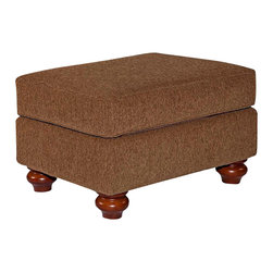 Broyhill - Broyhill Cierra Rust Brown Ottoman with Cherry Wood Stain - Broyhill - Ottomans - 34645Q - About This Product: