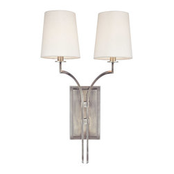 Hudson Valley Lighting - Hudson Valley Lighting 3112-AN Glenford 2 Light Wall Sconces in Antique Nickel - This 2 light Wall Sconce from the Glenford collection by Hudson Valley Lighting will enhance your home with a perfect mix of form and function. The features include a Antique Nickel finish applied by experts. This item qualifies for free shipping!