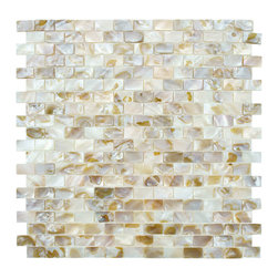 None - SomerTile 12.5x12.25-inch Seashell Subway Natural Mosaic Tiles (Pack of 10) - This pack of natural stone mosaic tiles is a great way to enhance the decor of any room. There are 10 sheets in the pack which you can use whole to create a bold look,or you can cut them into strips to add accents to your existing tiles.