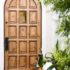Eclectic Front Doors Arched front door