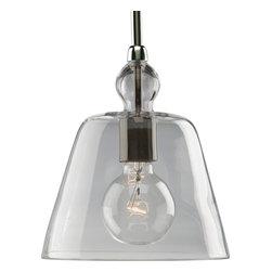 Progress Lighting - P5184-104 Glass Pendants One-Light Mini Pendant Polished Nickel - One-light stem hung mini-pendant with clear glass.