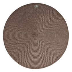 "Juliska - Juliska Round Medallion Millinery Mat Espresso - Juliska Round Medallion Millinery Mat EspressoRound 15"" Espresso Millinery Mat comes delicately adorned with a silver medallion to ensure that each table setting is always accessorized. Simply remove medallion and wipe mat with a damp sponge for easy clean up after blissfully messy meals. Dimensions: 15"" W"