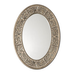 Uttermost - Uttermost 14354 Francesco Small Oval Mirror - Uttermost 14354 Francesco Small Oval Mirror