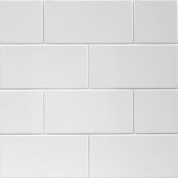 Subway Wall Tile- White Ice Matte - 10 Square Feet, Sample - Subway 3x6 Wall Tile- Ice White Matte Finish